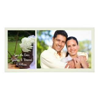 Hydrangea Cowboy Boots Wedding Save the Date Card