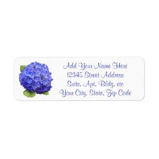 Hydrangea Floral Return Address Label