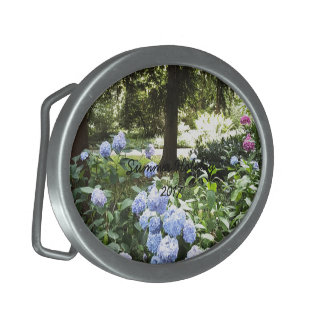 Hydrangea Floral Trees Nature Photography Belt Buckles
