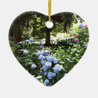 Hydrangea Floral Trees Nature Photography Ceramic Ornament