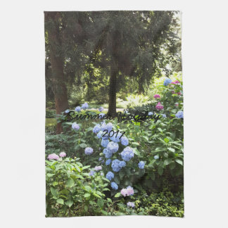 Hydrangea Floral Trees Nature Photography Kitchen Towel