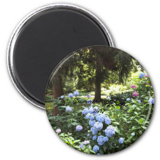Hydrangea Floral Trees Nature Photography Magnet