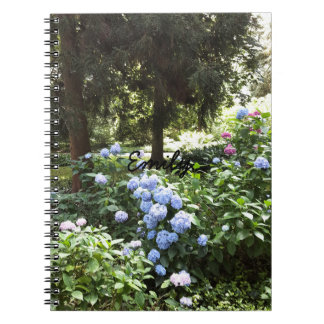 Hydrangea Floral Trees Nature Photography Spiral Notebook