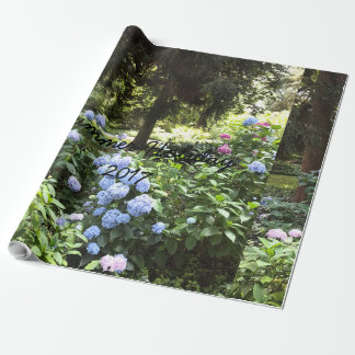 Hydrangea Floral Trees Nature Photography Wrapping Paper