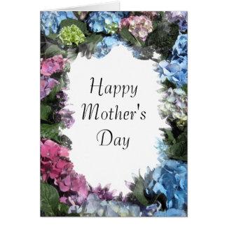 Hydrangea Flower Frame Happy Mothers Day Card