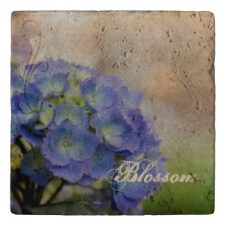 Hydrangea Flower Stone Trivet