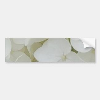 Hydrangea Flowers Floral White Elegant Blossom Bumper Sticker