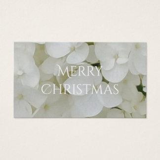 Hydrangea Flowers Floral White Elegant Blossom Business Card