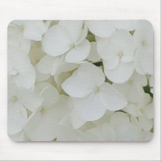 Hydrangea Flowers Floral White Elegant Blossom Mouse Pad