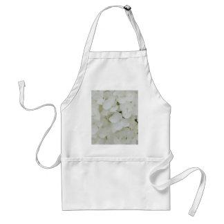 Hydrangea Flowers Floral White Elegant Blossom Standard Apron