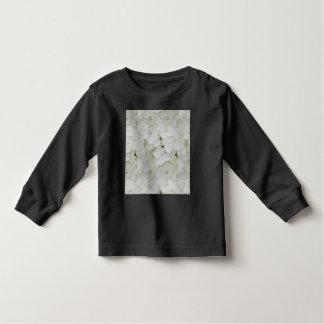 Hydrangea Flowers Floral White Elegant Blossom Toddler T-shirt