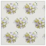 Hydrangea Flowers in a Heart Fabric