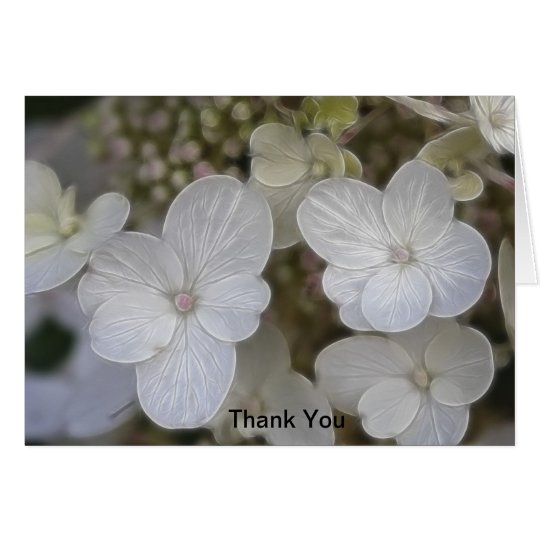Hydrangea Flowers Thank You Card