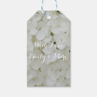 Hydrangea Flowers White Floral Romantic Bridal Pack Of Gift Tags