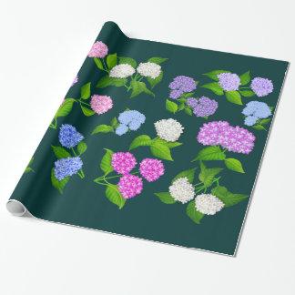 Hydrangea Garden Flowers Wrapping Paper