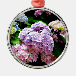 Hydrangea Gardens Silver-Colored Round Ornament