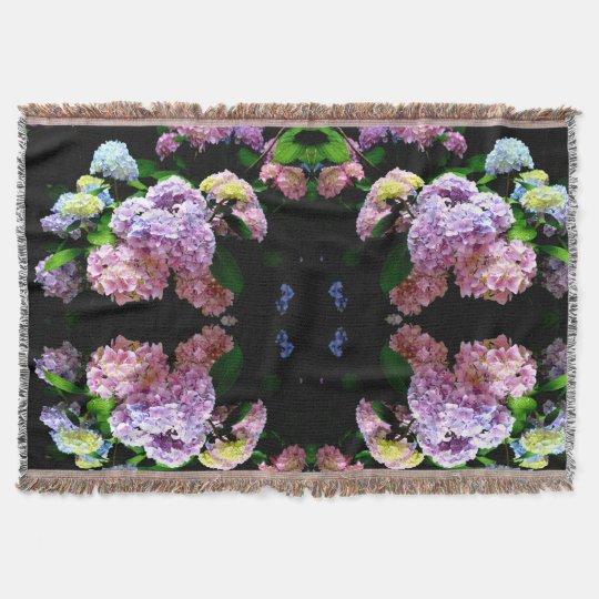 Hydrangea Gardens Throw
