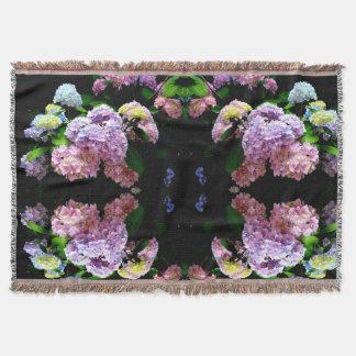 Hydrangea Gardens Throw Blanket