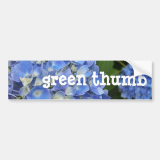 Hydrangea, Green-Thumb Bumper Sticker