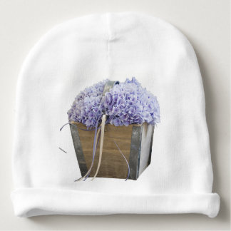 hydrangea in the vase baby beanie