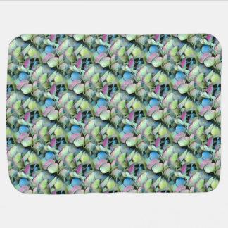 HYDRANGEA  Multi-color petals --- ECHO PRINT - Baby Blanket