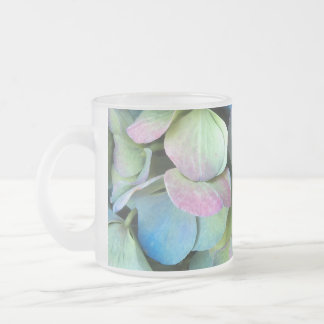 HYDRANGEA  Multi-color petals --- Frosted Glass Coffee Mug