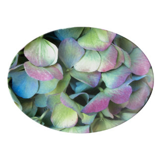 HYDRANGEA  Multi-color petals --- Porcelain Serving Platter