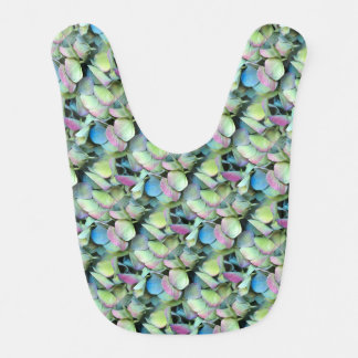 HYDRANGEA  Multi-colour petals --- ECHO PRINT - Baby Bib