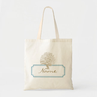 Hydrangea Name Tag Tote Bag
