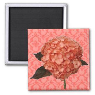 Hydrangea on Pink Pattern Magnet