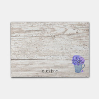 Hydrangea Pitcher Custom Name Post-it Notes