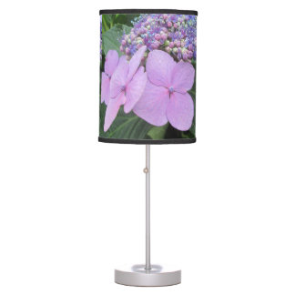 Hydrangea Purple Blooming Flower Table Lamp