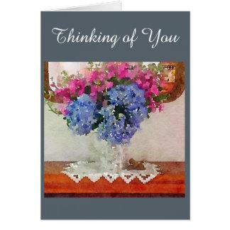 Hydrangea Still Life Card