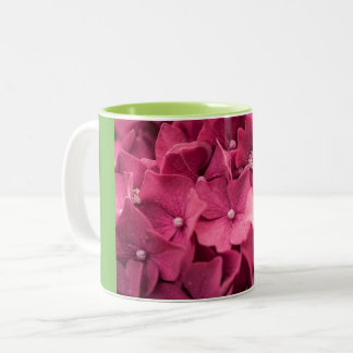 Hydrangea Two-Tone Coffee Mug