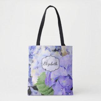 Hydrangea Watercolor Custom Tote Bag