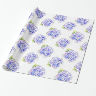Hydrangea Watercolor Pattern Wrapping Paper