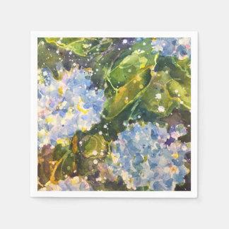 Hydrangea watercolor print napkins disposable napkin