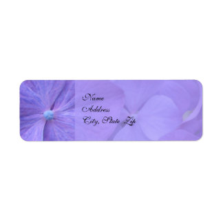 Hydrangea Wedding Return Address Label