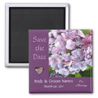 Hydrangea Wedding Save The Date Magnet