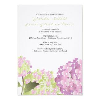 "Hydrangea Wedding Shower 5"" X 7"" Invitation Card"