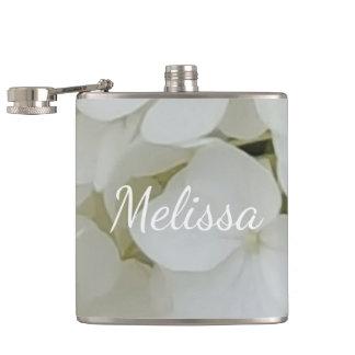 Hydrangea White Flowers Blossom Elegant Floral Flask