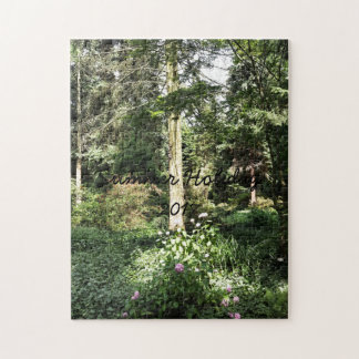 Hydrangea Wood Trees Nature Photography Jigsaw Puzzle