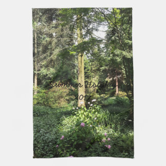 Hydrangea Wood Trees Nature Photography Kitchen Towel
