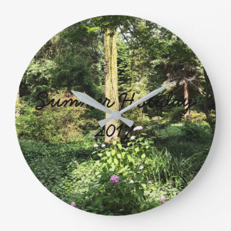 Hydrangea Wood Trees Nature Photography Large Clock