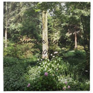 Hydrangea Wood Trees Nature Photography Napkin