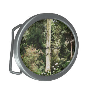Hydrangea Wood Trees Nature Photography Oval Belt Buckle