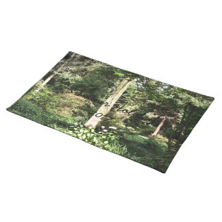 Hydrangea Wood Trees Nature Photography Placemat
