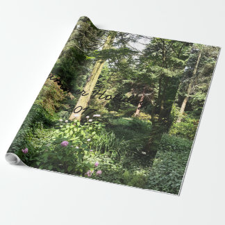 Hydrangea Wood Trees Nature Photography Wrapping Paper