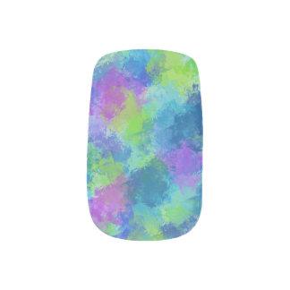Hydrangeas Abstract Minx Nail Art