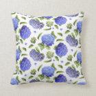 Hydrangeas All Over Throw Pillow